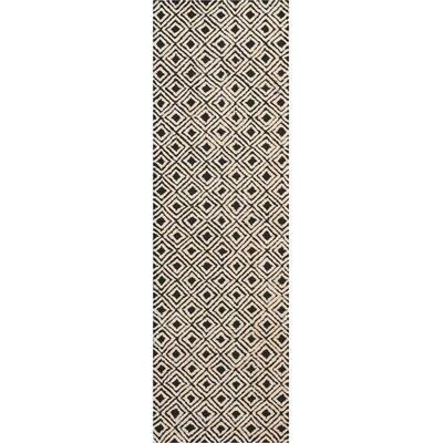 Chism Deco Hand-Tufted Black/Beige Area Rug Rug Size: Runner 23 x 76