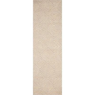 Chism Deco Hand-Tufted Taupe/Ivory Area Rug Rug Size: Runner 23 x 76