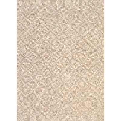 Chism Deco Hand-Tufted Taupe/Ivory Area Rug Rug Size: Rectangle 96 x 13