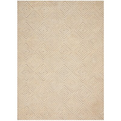 Chism Deco Hand-Tufted Taupe/Ivory Area Rug Rug Size: Rectangle 53 x 74