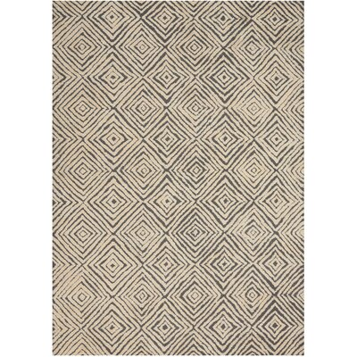 Chism Deco Hand-Tufted Gray/Ivory Area Rug Rug Size: Rectangle 53 x 74