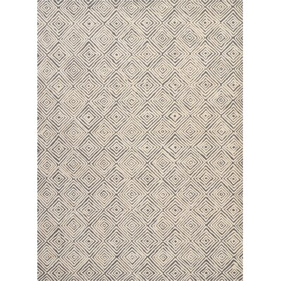 Chism Deco Hand-Tufted Gray/Ivory Area Rug Rug Size: Rectangle 96 x 13