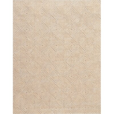 Chism Deco Hand-Tufted Taupe/Ivory Area Rug Rug Size: Rectangle 8 x 106