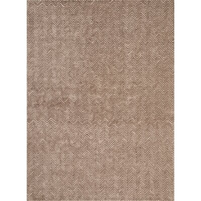 Manuel Deco Hand-Tufted Taupe Area Rug Rug Size: Rectangle 96 x 13