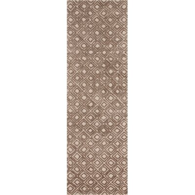 Chism Deco Hand-Tufted Taupe Area Rug Rug Size: Runner 23 x 76