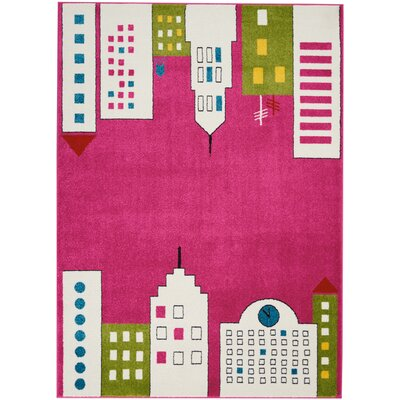 Chunn Pink Area Rug Rug Size: Rectangle 52 x 7