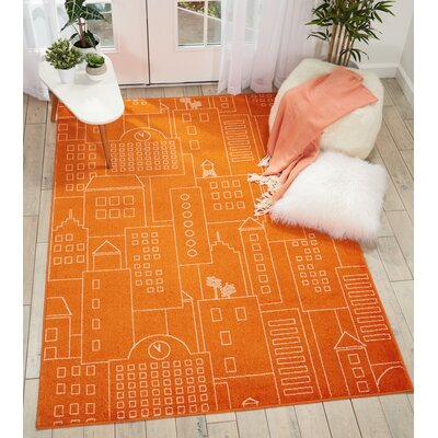 Chunn Orange Area Rug Rug Size: Rectangle 4 x 6