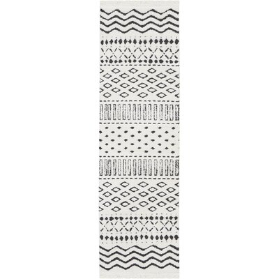 Penwell White Area Rug Rug Size: Runner 22 x 76