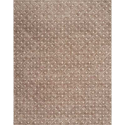 Chism Deco Hand-Tufted Taupe Area Rug Rug Size: Rectangle 53 x 74