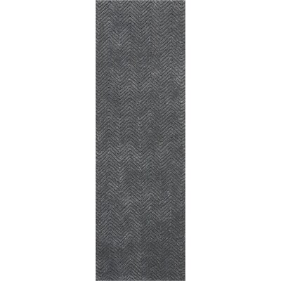 Manuel Deco Hand-Tufted Gray Area Rug Rug Size: Runner 23 x 76