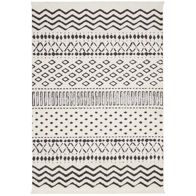 Penwell White Area Rug Rug Size: Rectangle 53 x 73