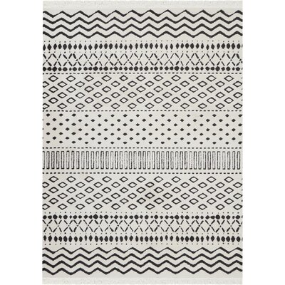 Penwell White Area Rug Rug Size: Rectangle 93 x 129