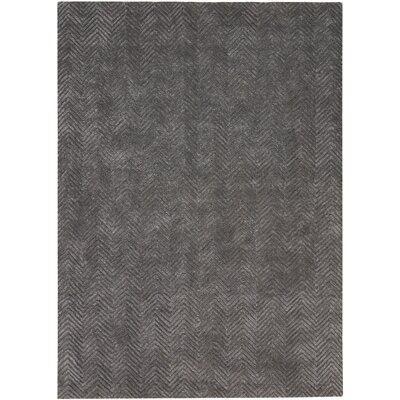 Manuel Deco Hand-Tufted Gray Area Rug Rug Size: Rectangle 53 x 74