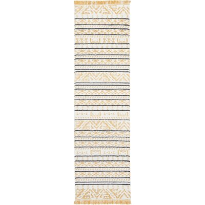 Penwell Yellow Area Rug Rug Size: Runner 22 x 76