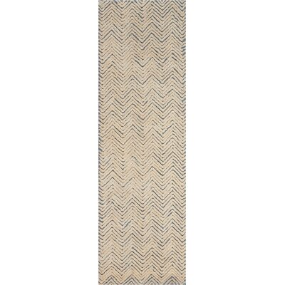 Manuel Deco Hand-Tufted Light Blue/Ivory Area Rug Rug Size: Runner 23 x 76