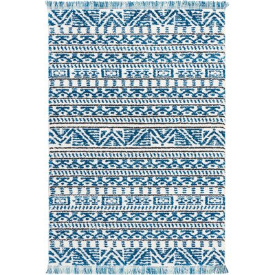 Penwell Ivory/Blue Area Rug Rug Size: Rectangle 311 x 511