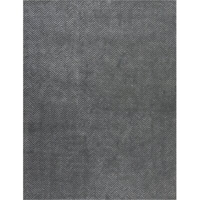 Manuel Deco Hand-Tufted Gray Area Rug Rug Size: Rectangle 8 x 106