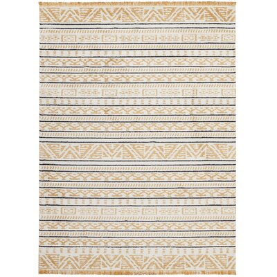 Penwell Yellow Area Rug Rug Size: Rectangle 710 x 106