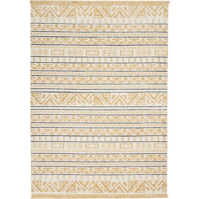 Penwell Yellow Area Rug Rug Size: Rectangle 53 x 73