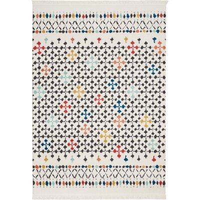 Penwell White Area Rug Rug Size: Rectangle 53 x 73