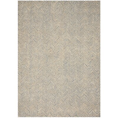 Manuel Deco Hand-Tufted Light Blue/Ivory Area Rug Rug Size: Rectangle 53 x 74