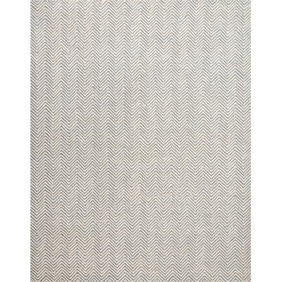 Manuel Deco Hand-Tufted Light Blue/Ivory Area Rug Rug Size: Rectangle 8 x 106