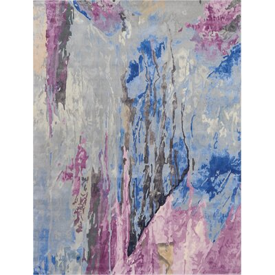 Machen Hand-Tufted Blue/Pink Area Rug Rug Size: Rectangle 99 x 139