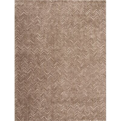 Manuel Deco Hand-Tufted Taupe Area Rug Rug Size: Rectangle 8 x 106