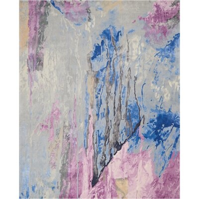 Machen Hand-Tufted Blue/Pink Area Rug Rug Size: Rectangle 79 x 99