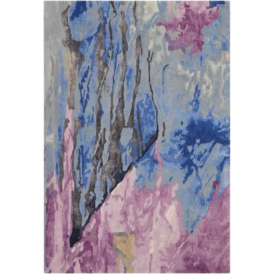 Machen Hand-Tufted Blue/Pink Area Rug Rug Size: Rectangle 39 x 59