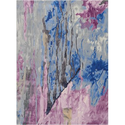 Machen Hand-Tufted Blue/Pink Area Rug Rug Size: Rectangle 56 x 75