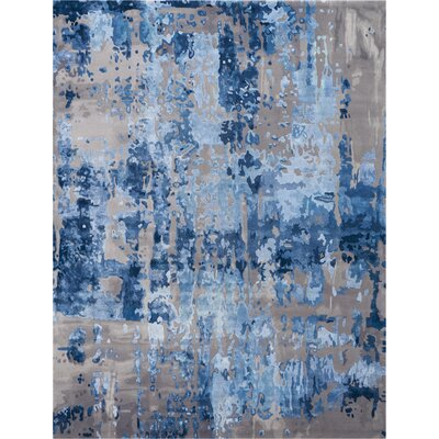 Machen Hand-Tufted Blue/Gray Area Rug Rug Size: Rectangle 99 x 139