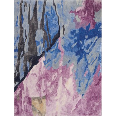 Machen Hand-Tufted Blue/Pink Area Rug Rug Size: Rectangle 23 x 3