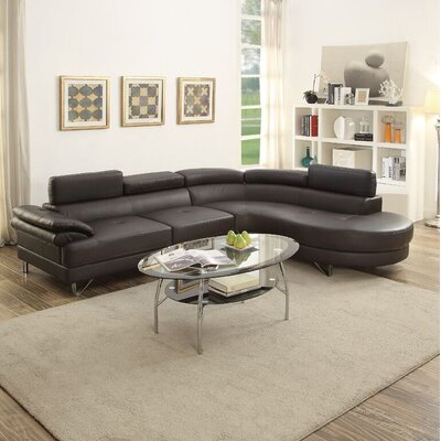 Streeter Sectional Upholstery: Espresso