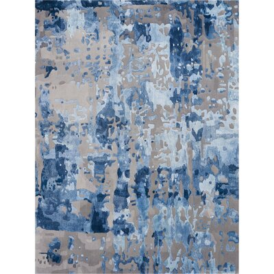 Machen Hand-Tufted Blue/Gray Area Rug Rug Size: Rectangle 56 x 75