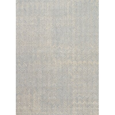 Manuel Deco Hand-Tufted Light Blue/Ivory Area Rug Rug Size: Rectangle 96 x 13