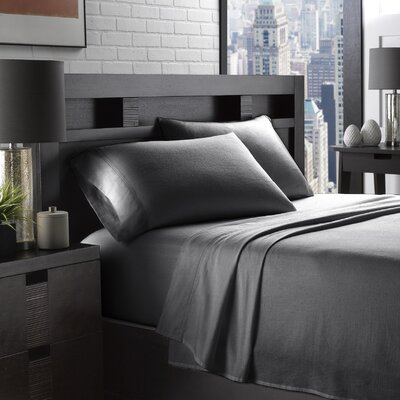 Etting Flannel 200 Thread Count 100% Cotton Sheet Set Size: Twin, Color: Charcoal
