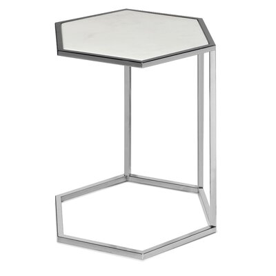 Phillipps Hex C End Table Table Base Color: Silver, Size: 19.5 H x 17.7 W x 15.3 D