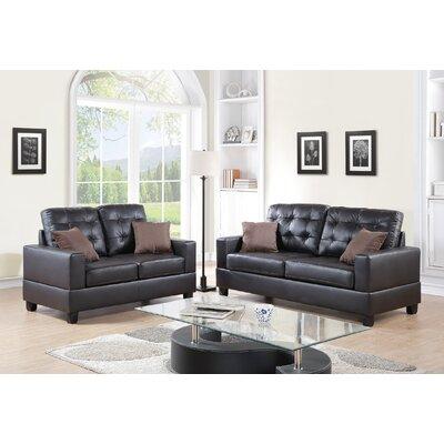 Draeger 2 Piece Living Room Set Upholstery: Espresso