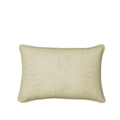 Laurel Embroidered 100% Cotton Throw Pillow