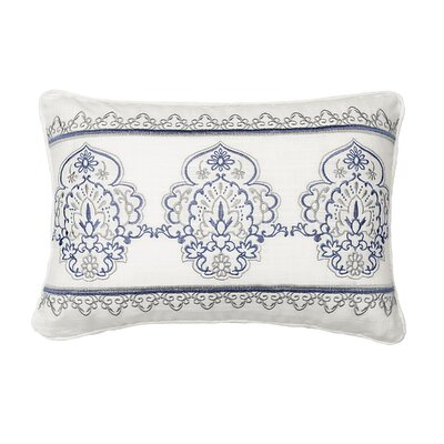Indochine Embroidered 100% Cotton Throw Pillow