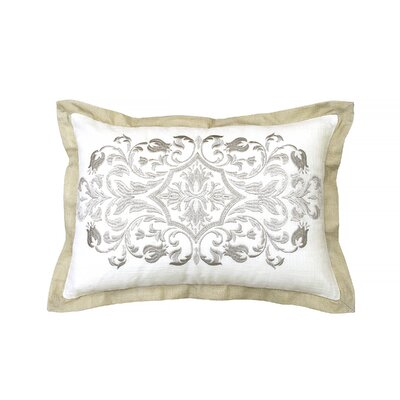 Pemberly Embroidered 100% Cotton Throw Pillow