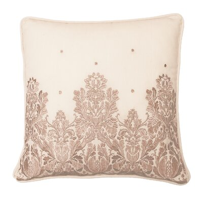Montreal Embroidered 100% Cotton Throw Pillow