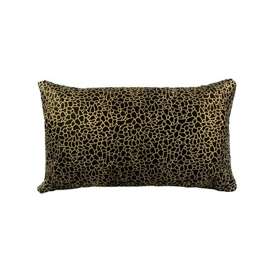 Lachance Leather Throw Pillow Color: Black/Gold