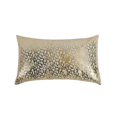 Lachance Leather Throw Pillow Color: White/Gold