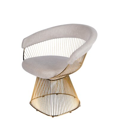 Soleil Armchair Upholstery: Gold/Beige