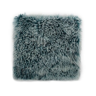 Crestside Lamb Fur Wool Throw Pillow