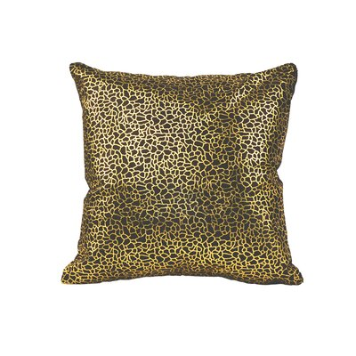 Lach Leather Throw Pillow Color: Black/Gold