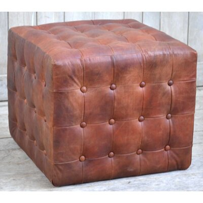 Dilorenzo Leather Pouf