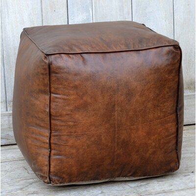Dillow Leather Pouf